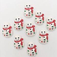 HOT 10pcs Resin hand painting Christmas snowman Flatback stone/Children handwork