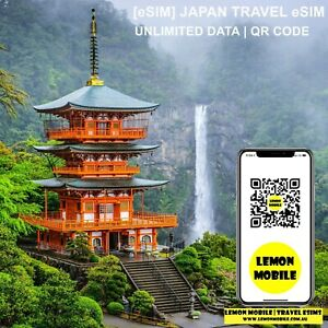 [eSIM] Japan travel SIM | Unlimited data 4G network |Overseas roaming QR code