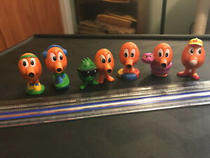 Q*bert Qbert Q Bert Full Set of Kenner Figurines EXCELLENT