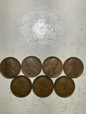1909-P---1915-P LINCOLN WHEAT CENT PENNY SET, 7 COINS