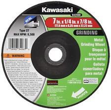 Kawasaki® 7 X 1/4 X 7/8 Metal Grinding Wheel Type 27 - 842008 (2 Pack!)