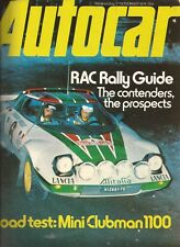 Autocar Magazine 27.11.76. RAC Rally Guide. Mini Clubman Road Test. Saab 99.