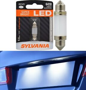 Sylvania ZEVO LED Light 6418 White 6000K One Bulb License Plate Tag Replace Lamp