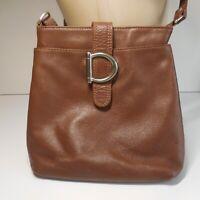 Sac bandoulière femme vintage cuir marron art déco bijouterie métal N6643