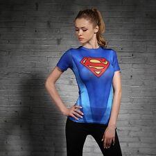 Superman t-shirt manches courtes tee-shirt sport costume femme