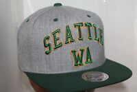 Seattle Supersonics Mitchell & Ness NBA Team Logo  Snapback,Cap,Hat       NEW