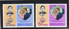 BRUNEI #190-191  1973 WEDDING OF PRINCESS ANNE  MINT  VF LH  O.G