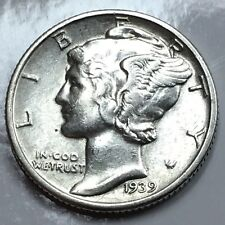 1939 Mercury Dime - US 90% Silver Coin #06