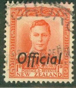 New Zealand. 1938. GVI. 1d. Red. Official.  BOB. U.