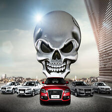 1Pc Cool Skull Skeleton Car Motorcycle Auto Logo Decal Sticker Emblem Badge