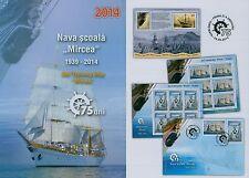 Rumänien 2014 Segelschulschiff MIRCEA Mi.6816-17,KB,Block 588 ,Block 589,FDC