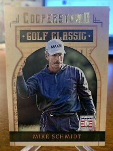 2015 Panini Cooperstown MIKE SCHMIDT SP HOF Golf Outing Images Gold /25 SSP #24