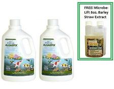Algaefix Algae Control Algae Fix Pond Care 2pk 1gal & FREE BARLEY STRAW EXTRACT