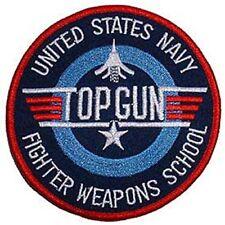 Top Gun Patch US Navy (4 Inch) Embroidered Iron on Badge Maverick Pilot Jacket