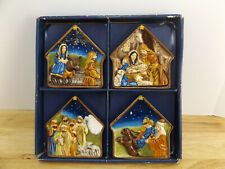 Mww Market Mini Plates Nativity Set of 4