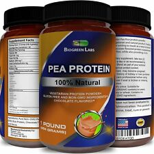 Pea and Rice Protein Powder Chocolate Flavored Vegetarian Non Dairy GMO Free