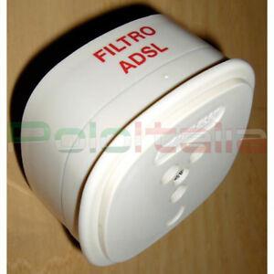 Filtre ADSL Tripolaire RJ11 Telecom Adaptateur Modem Tim Internet PC Phone Fax