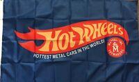 HOT WHEELS Car Racing Flag Banner 3x5 Man Cave Kids Playroom Collectible Match B