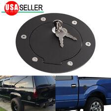 For 02-09 Dodge Ram 1500 Matte Aluminum Fuel Gas Door Cover Cap+Key