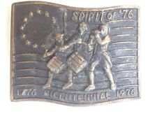 Bicentennial Belt Buckle Style Plaque Display Vintage American Retro Classic