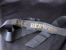 H.M.S. BERWICK Hat Cap Ribbon 1920s