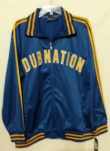 Golden State Warriors Renegade Dub Nation Nike New Blue Gold Track Era Jacket