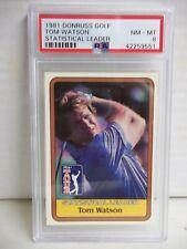 1981 Donruss Tom Watson PSA NM-MT 8 Golf Card #Stat Leader PGA Tour