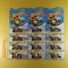 (Lot of 12) Hot Wheels RIG STORM GOLD 24K - 2019 MEIJER's Exclusive Gold Edition