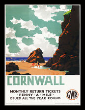 Cornwall Penny A Mile - Framed 30 x 40 Official Print