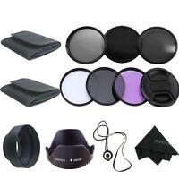 49mm UV CPL FLD ND2 ND4 ND8 Neutral Density Lens Filter Kit Hood For Sony NEX-3