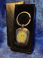 Color Tweety bird Keychain silver In Box