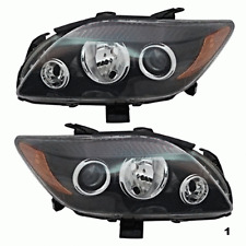 05-10 Scion tC Left & Right Headlamps w/grey bezel w/projection high beam (pair)
