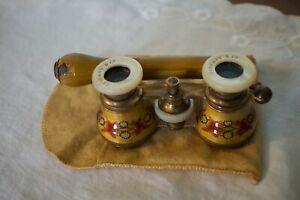 Antique Tiffany & Co. Enameled Guilloche Opera Glasses-Telescoping Handle Rare