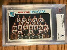 1978 -79 Topps #202 Rangers Team CL BGS 8 NM-MT!