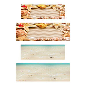 Anti Slip Microfiber Bath Mat Beach Fish Rug Toilet Shower Bathroom Floor Soft