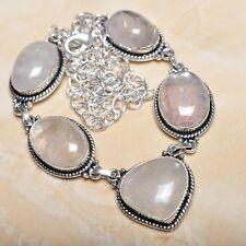 "Handmade Natural Rutilated Quartz Jasper 925 Sterling Silver Necklace 21"" N00650"