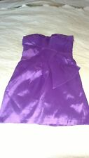 Max and Cleon Women's Size 8 Little Purple Strapless Dress