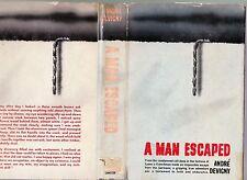 A Man Escaped (from German prison in Lyon, WW2), Andre Devigny, 1958 1st US w/DJ