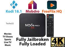 MXQ Pro 4K Ultra HD 3D 64Bit Wifi Android 7.1 Quad Core Smart TV Box + KODI 18.1