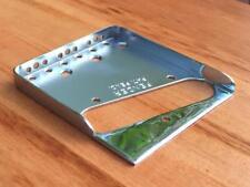 Fender Telecaster Bridge Plate w/ Notched Flange & Drilled for Top Load