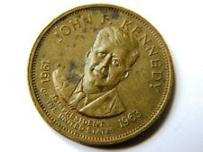 ANTIQUE COIN COMMEMORATIVE JOHN F. KENNEDY 1963