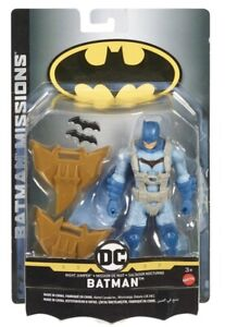 BATMAN MISSIONS - BATMAN 6 INCH FIGURE Mattel Night Jumper DC Comics New In Box