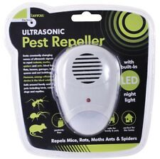 Plug In Non Toxic Ultrasonic Pest Repeller & Night Light Mouse Rat Spider Rodent