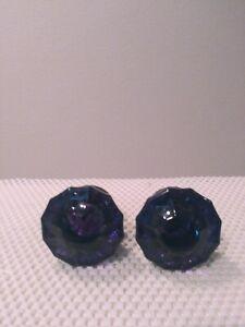 VINTAGE PURPLE GLASS DRAWER KNOBS