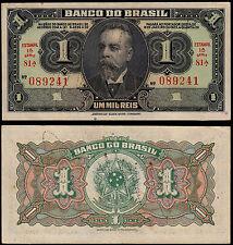 BRASILE 1 MIL Reis (P110B) 1923 aUNC