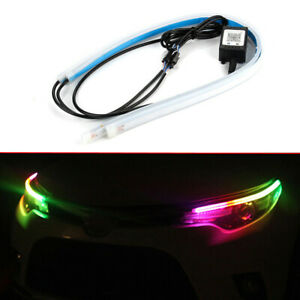 2x RGB LED DRL Car Styling Daytime Running Light Strip Accessories For Headlight