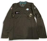 NWT New Miami Dolphins Nike Coaches Sideline Half-Zip Small Performance Jacket