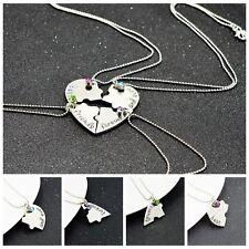 4Pcs/Set Best Friends Forever Letter Chain Necklace Puzzle Pendant Friendship