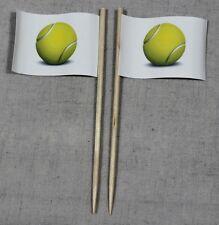 Party-Picker Tennisball Tennis 50 Stk. Dekopicker Papierfähnchen Käsepicker Food