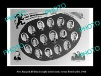 OLD LARGE HISTORIC PHOTO NEW ZEALAND ALL BLACKS RUGBY UNION TEAM 1966 UK TOUR